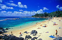 "Pupukea Beach Park is a snorkelers and scuba divers paradise as well as a great spot to hang out in the warm Hawaiian sun. This north section of the  beach park is know as """" Three Tables"""" for it's three coral outcroppings that become more prominen"