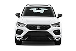 Car photography straight front view of a 2020 Seat Ateca FR 5 Door SUV Front View