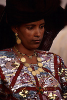 In-Gall, near Agadez, Niger - Tuareg Woman, Dressed to attend a Wedding