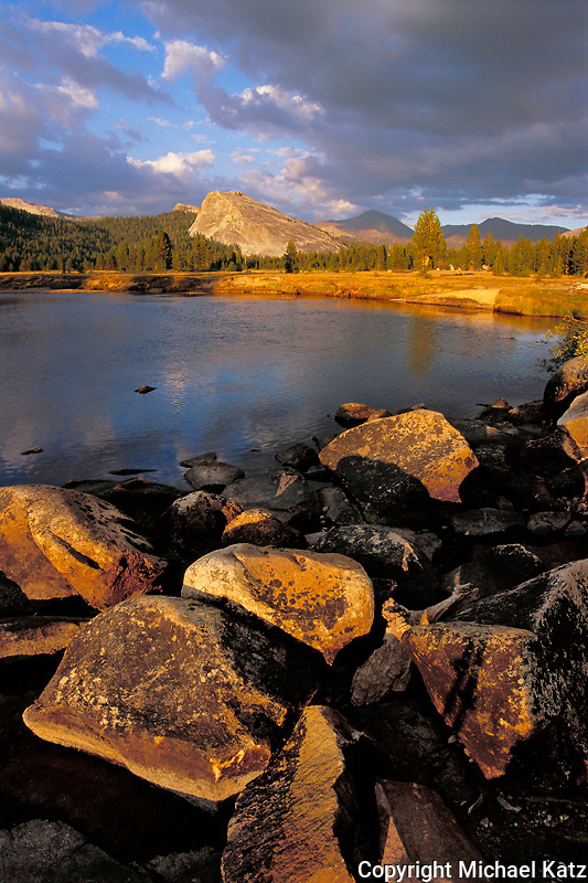 Late summer in Tuolumne Meadows, late afternoon light on Lembert Dome.