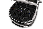 Car stock 2018 Maserati Levante Base 5 Door SUV engine high angle detail view