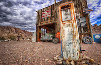 Longing for simpler times - Southwest - Old garage & gas pumps