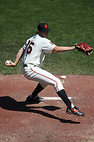 SAN FRANCISCO - AUGUST 23:  Barry Zito of the San Francisco Giants pitches during the game against the San Diego Padres at AT&T Park in San Francisco, California on August 23, 2008.  The Giants defeated the Padres 4-3.  Photo by Brad Mangin