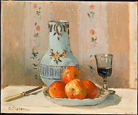Still Life with Apples and Pitcher, 1872, by Camille Pissarro (1830-1903). The Metropolitan Museum of Art, New York.