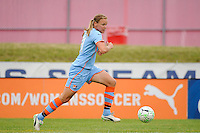 Laura Kalmari (21) of Sky Blue FC. Sky Blue FC and the Boston Breakers played to a 0-0 tie during a Women's Professional Soccer (WPS) match at Yurcak Field in Piscataway, NJ, on June 12, 2011.