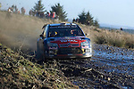 Dani SORDO on the Resolven stage  of the Wales Rally GB in the forests of South Wales this afternoon..