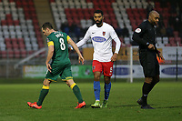 Michael Doyle of Notts County is sent off during Dagenham & Redbridge vs Notts County, Vanarama National League Football at the Chigwell Construction Stadium on 25th January 2020
