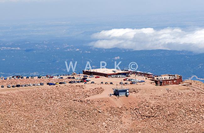 aerial of Pikes Peak Summit