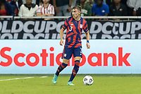 KANSAS CITY, KS - JULY 11: Sam Vines # 3 of the United States moves with the ball during a game between Haiti and USMNT at Children's Mercy Park on July 11, 2021 in Kansas City, Kansas.