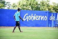 MONTERIA -COLOMBIA, 25-09-2020:Jugadores de Jaguares de Córdoba antes del encuentro contra La Equidad. Jaguares de Córdoba  y La Equidad en partido por la fecha 10 de la Liga BetPlay DIMAYOR I 2020 jugado en el estadio Jaraguay Municipal de la ciudad de Montería. / Players of Jaguares de Córdoba before the match against La Equidad.Jaguares of Cordoba and La Equidad in match for the date 10 BetPlay DIMAYOR League I 2020 played at Jaraguay Municipal stadium in Monteria city: VizzorImage/ Andrés Felipe López / Contribuidor