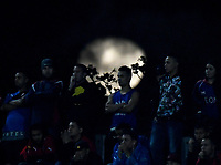 MEDELLIN - COLOMBIA: 15 - 03 - 2017: Despues de la tormenta vino la calma, luna llena, durante partido de la fase de grupos, grupo 3, fecha 1 entre Deportivo Independiente Medellin de Colombia y River Plate de Argentina por la Copa Conmebol Libertadores Bridgestone 2017 en el Estadio Atanasio Girardot, de la ciudad de Medellin. / After the storm came the calm, full moon, during a match for the group stage, group 3 of the date 1, between Deportivo Independiente Medellin of Colombia and River Plate of Argentina for the Conmebol Libertadores Bridgestone Cup 2017, at the Atanasio Girardot, Stadium, in Medellin city. Photos: VizzorImage / Luis Ramirez / Staff.