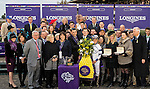 October 30, 2015 :  Stopchargingmaria, ridden by Javier Castellano, outdoes Stellar Wind, ridden by Victor Espinoza, to win the Breeders' Cup Distaff at Keeneland Race Course in Lexington, Kentucky.  Sue Kawczynski/ESW/CSM