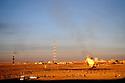 Iraq 2008.The oilfield of Kirkuk and football    Irak 2008. Champ de petrole et terrain de football a Kirkouk