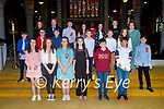 Former students of St Brendans NS Blennerville receive their confirmation from Fr Vitalis on Saturday in St Johns Church, l to r: Rose O'Connor (Teacher), Robbie O'Connell (Principal), Fr Vitalis and Debbie Moriarty (Teacher).