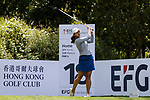 Neha Tripathi of India tees off during the first round of the EFG Hong Kong Ladies Open at the Hong Kong Golf Club Old Course on May 11, 2018 in Hong Kong. Photo by Marcio Rodrigo Machado / Power Sport Images