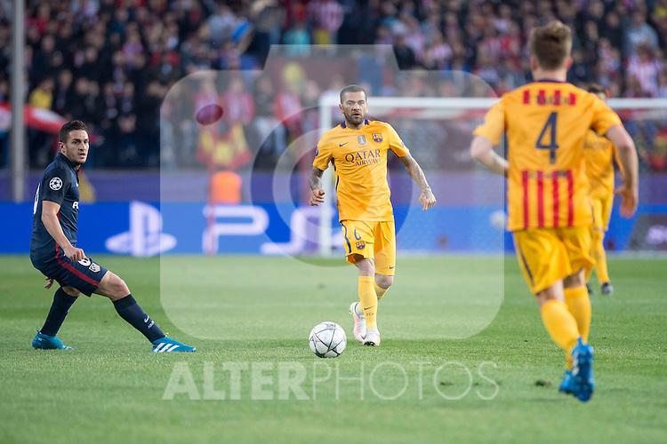 Atletico de Madrid's Koke and FC Barcelona Dani Alves during Champions League 2015/2016 Quarter-Finals 2nd leg match. April 13, 2016. (ALTERPHOTOS/BorjaB.Hojas)