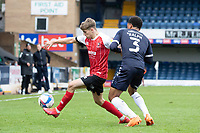 Goalscorer George Lloyd, Cheltenham Town holds off Nathan Ralph, Southend United during Southend United vs Cheltenham Town, Sky Bet EFL League 2 Football at Roots Hall on 17th October 2020