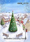 Roger, CHRISTMAS LANDSCAPES, WEIHNACHTEN WINTERLANDSCHAFTEN, NAVIDAD PAISAJES DE INVIERNO, paintings+++++,GBRM2173,#xl#