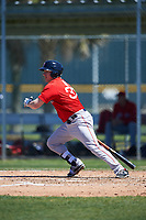 Boston Red Sox Jayce Ray (37) bats during a minor league Spring Training game against the Baltimore Orioles on March 16, 2017 at the Buck O'Neil Baseball Complex in Sarasota, Florida. (Mike Janes/Four Seam Images)