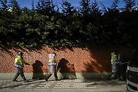 BOGOTA - COLOMBIA, 13-12-2018: Disturbios durante la decima movilizacion el dia 13 de diciembre del 2018 organizado por la Union Nacional de Estudiantes de Educacion Superior (UNEES), Fecode y La Central Unitaria de Trabajadores (CUT), Exigiendo mejorar los recursos para la educación y en oposición a la reforma tributaria. / Riots during the tenth mobilization on December 13, 2018 organized by la Union Nacional de Estudiantes de Educacion Superior (UNEES), Fecode y La Central Unitaria de Trabajadores (CUT), demanding to improve the resources for education and in opposition to the tax reform.. Photo: VizzorImage / Diego Cuevas / Cont