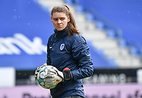 goalkeepercoach Celien Baeten of KRC Genk pictured during a female soccer game between  Racing Genk Ladies and SV Zulte-Waregem on the 18 th and last matchday before the play offs of the 2020 - 2021 season of Belgian Scooore Womens Super League , saturday 27 th of March 2021  in Genk , Belgium . PHOTO SPORTPIX.BE | SPP | JILL DELSAUX
