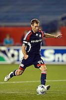 New England Revolution midfielder Steve Ralston (14) during the penalty kick shootout. The New England Revolution defeated the Houston Dynamo 2-2 (6-5) in penalty kicks in the SuperLiga finals at Gillette Stadium in Foxborough, MA, on August 5, 2008.