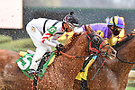 February 27, 2021: Mystic Guide #7, ridden by Luis Saez wins the Razorback Handicap (Grade 3) for trainer Michael Stidham at Oaklawn Park in Hot Springs, Arkansas. Ted McClenning/Eclipse Sportswire/CSM