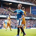 Joe Garner scores for Rangers and celebrates