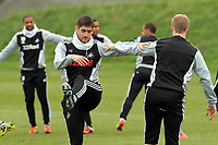 Swansea City FC, training session, Llandarcy, Swansea, 16/03/12<br /> Pictured: Striker Danny Graham warms up<br /> Picture by: Ben Wyeth / Athena Picture Agency<br /> info@athena-pictures.com