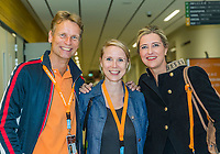 The Hague, The Netherlands, September 17, 2017,  Sportcampus , Davis Cup Netherlands - Chech Republic, Jan Siemerink, Kristie Boogert<br /> Photo: Tennisimages/Henk Koster