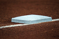 Third base at the Dell Diamond in Round Rock, Texas. (Andrew Woolley/Four Seam Images)