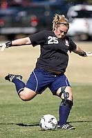 SAN ANTONIO, TX - OCTOBER 24, 2008: The University of Texas of the Permian Basin Falcons vs. the St. Mary's University Rattlers Women's Soccer at the St. Mary's Soccer Field. (Photo by Jeff Huehn)