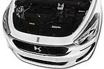 Car Stock 2016 Citroen DS5 Sport Chic 5 Door Hatchback Engine  high angle detail view