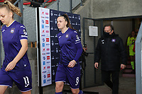 Tine De Caigny (6 Anderlecht) enters the pitch before  a female soccer game between Standard Femina de Liege and RSC Anderlecht on the 9th matchday of the 2020 - 2021 season of Belgian Scooore Womens Super League , saturday 12 th of December 2020  in Angleur , Belgium . PHOTO SPORTPIX.BE   SPP   SEVIL OKTEM