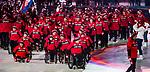 PyeongChang 2018 - Brian McKeever carries the Canadian flag in the closing ceremony // Brian McKeever portent le drapeau canadien lors de la cérémonie de clôture. 9/03/2019.