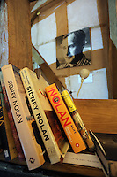 Pictured: Books about Sidney Nolan Friday 02 December 2016<br /> The Sidney Nolan Trust, Rodd, Herefordshire, England, UK