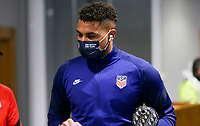 SWANSEA, WALES - NOVEMBER 12: Zack Steffen #1 of the United States men's national team arrives at Liberty stadium before a game between Wales and USMNT at Liberty Stadium on November 12, 2020 in Swansea, Wales.