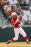 Houston Cougars outfielder Landon Appling (1) swings the bat during the NCAA baseball game against the Texas Longhorns on June 6, 2014 at UFCU Disch–Falk Field in Austin, Texas. The Longhorns defeated the Cougars 4-2 in Game 1 of the NCAA Super Regional. (Andrew Woolley/Four Seam Images)