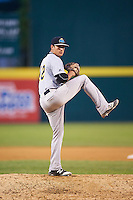 Trenton Thunder relief pitcher Caleb Smith (12) during a game against the Binghamton Mets on May 29, 2016 at NYSEG Stadium in Binghamton, New York.  Trenton defeated Binghamton 2-0.  (Mike Janes/Four Seam Images)