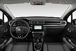 Stock photo of straight dashboard view of 2020 Citroen C3 Shine 5 Door Hatchback Dashboard