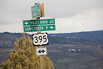 Highway 395, Northeastern Oregon, Pacific Northwest, U.S.A., ranch country, spring,