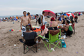 Brooklyn, New York<br /> USA<br /> July 4, 2011<br /> <br /> 4th of July celebration at Coney Island Beach.