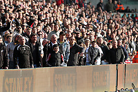 Saturday 2nd March 2013<br /> Pictured: Swansea supporters.<br /> Re: Barclays Premier Leaguel, Swansea  v Newcastle at the Liberty Stadium in Swansea.