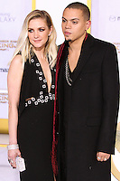 LOS ANGELES, CA, USA - NOVEMBER 17: Ashlee Simpson, Evan Ross arrive at the Los Angeles Premiere Of Lionsgate's 'The Hunger Games: Mockingjay, Part 1' held at Nokia Theatre L.A. Live on November 17, 2014 in Los Angeles, California, United States. (Photo by Rudy Torres/Celebrity Monitor)