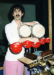 Frank Zappa 1982 in his Laurel Canyon home studio.<br /> © Chris Walter