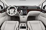 Stock photo of straight dashboard view of2015 Nissan Quest SV 5 Door Minivan Dashboard