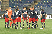 FOXBOROUGH, MA - NOVEMBER 1: New England starting eleven during a game between D.C. United and New England Revolution at Gillette Stadium on November 1, 2020 in Foxborough, Massachusetts.
