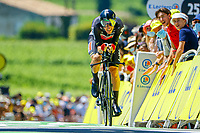 17th July 2021, St Emilian, Bordeaux, France;  SWEENY Harrison (AUS) of LOTTO SOUDAL during stage 20 of the 108th edition of the 2021 Tour de France cycling race, an individual time trial stage of 30,8 kms between Libourne and Saint-Emilion.