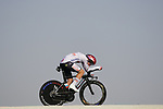 Tadej Pogacar (SLO) UAE Team Emirates during Stage 2 of the 2021 UAE Tour an individual time trial running 13km around Al Hudayriyat Island, Abu Dhabi, UAE. 22nd February 2021.  <br /> Picture: Eoin Clarke | Cyclefile<br /> <br /> All photos usage must carry mandatory copyright credit (© Cyclefile | Eoin Clarke)