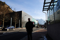 Man in the centre of Vaduz. Liechtenstein has become a major tax haven, whose opaque banking laws are said to aid fraud, money laundering and tax evasion. There are an estimated 75,000 companies registered in the country, twice that of the population. .